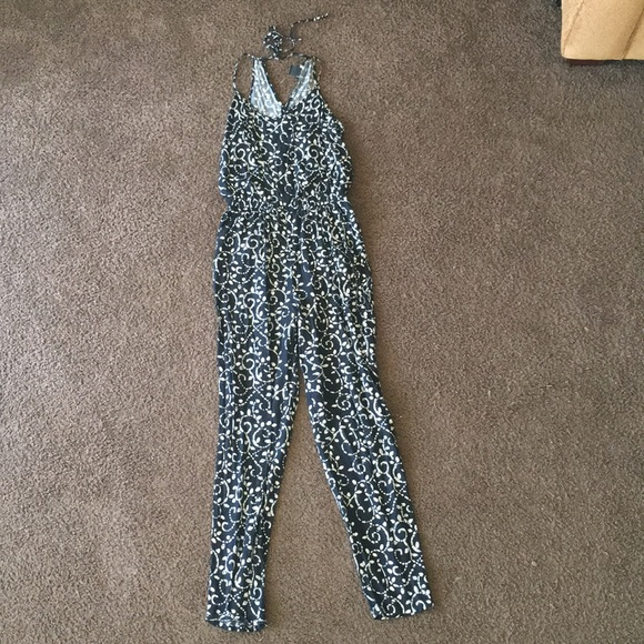 b1a1a63fdd Lucky Brand Pants - Lucky Brand black and white patterned jumpsuit